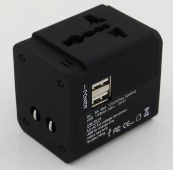 .PC with rubber oil plating travel adapter