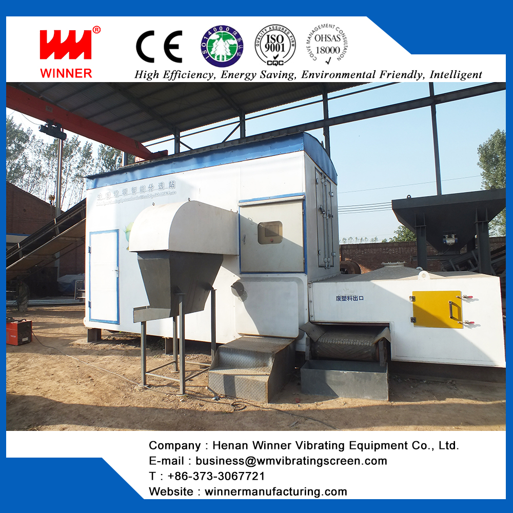 Municipal waste automatic sorting and management system