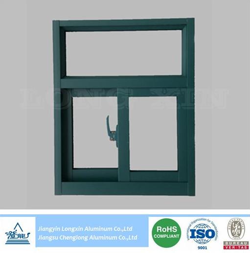 green powder coated aluminium profile for windows