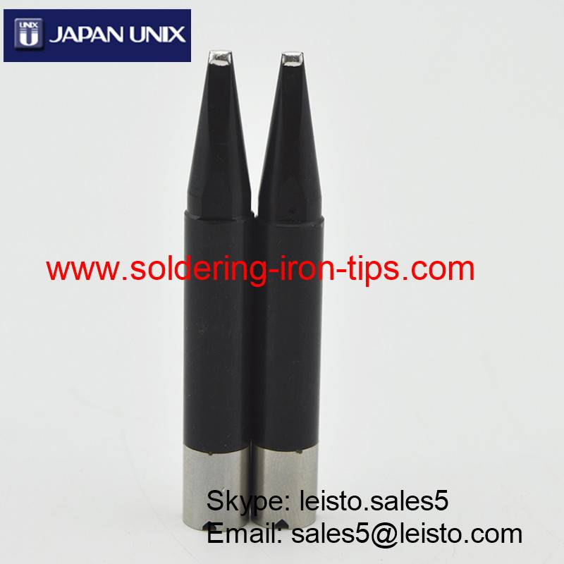 Black chromium Japan Unix P3D-R Robot soldering tips, Lead-free Unix P3D-R Cross bit