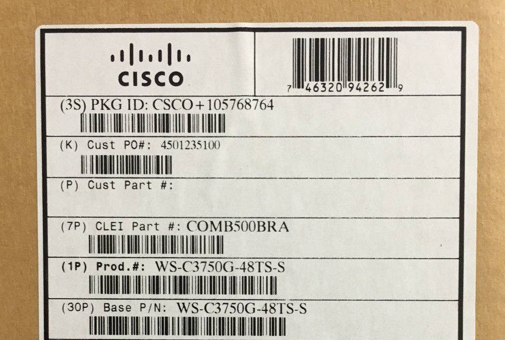 Cisco Catalyst WS-C3750G-48TS-S