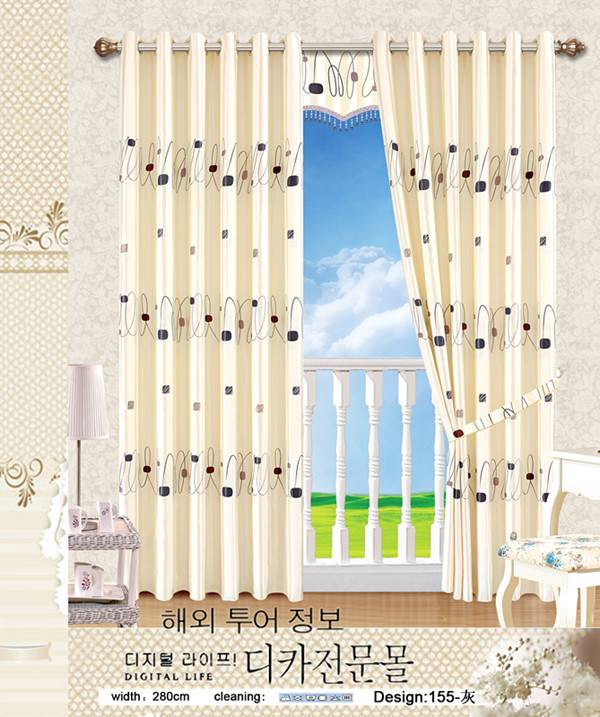 hotsale printed blackout curtain