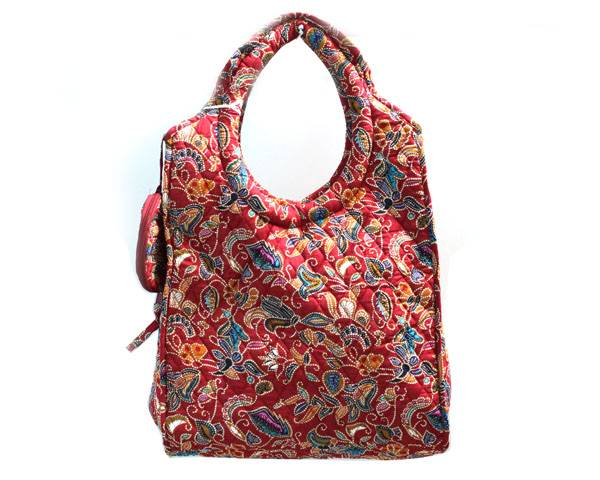 quilted shopping bag
