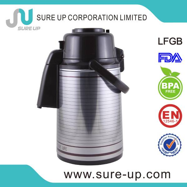 high quality good 3.0 litre glass lined vacuum thermos (AGUR)