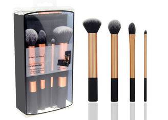 4 Piece Natural Hair Travel Makeup Brush Set