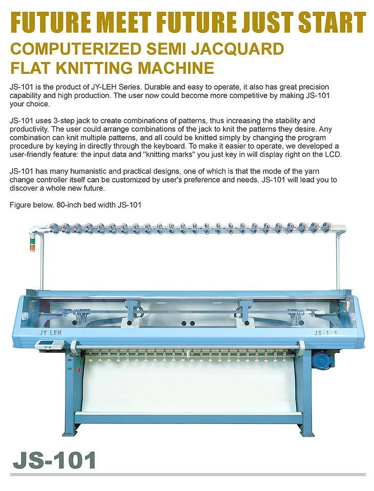 JS-101 (Computerized Semi Jacquard Flat Knitting Machine)