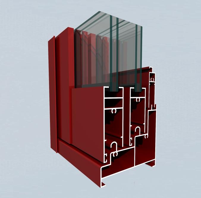 square / flat / round Window Aluminum Profile, ordinary doors and Windows