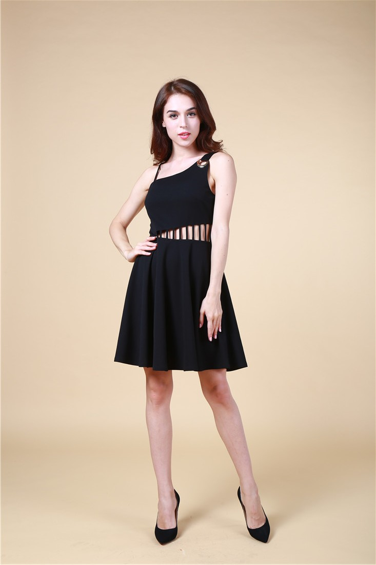 B1613 Latest Sleeveless Women Dresses,Hot Sale Glamour Mini Fashion Dress