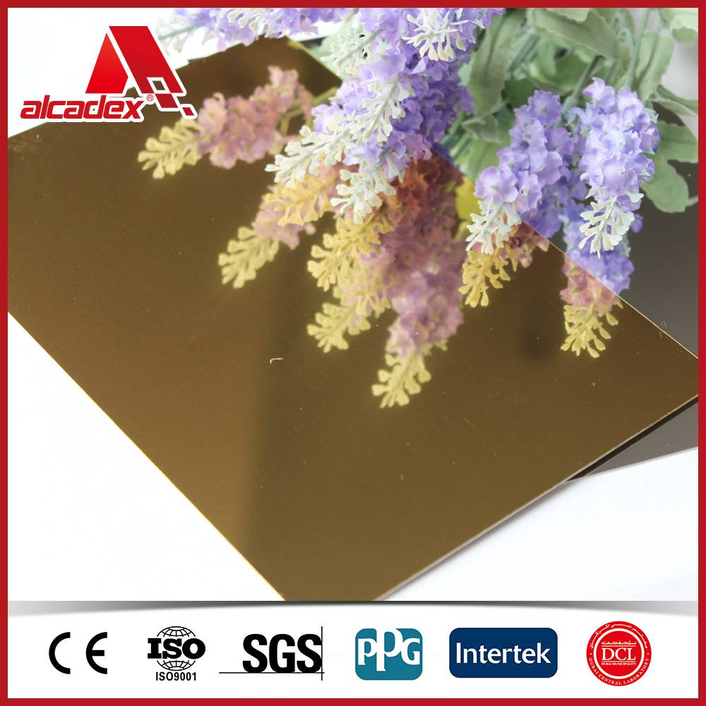 mirror anodized surface treatment composite panel acp