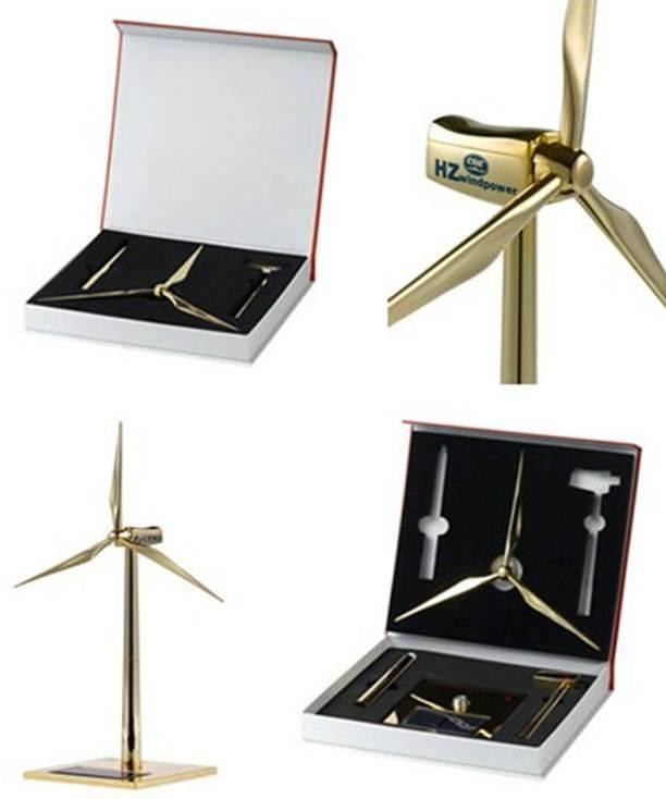 Diecast Zinc alloy and ABS plastic blades Solar Wind Generator Model