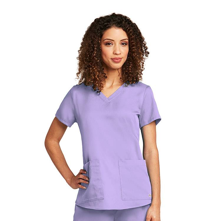 OEM Medical Scrub Comfortable Scrub womens scrubs V-neck Scrubs Nursing Scrub Tops Chest Pocket with