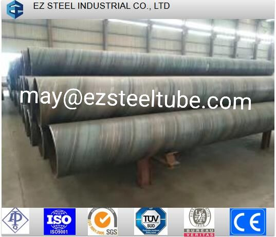 SSAW Hot Rolled Water Pipe Line Large Diameter Spiral Black Welded Steel Pipe