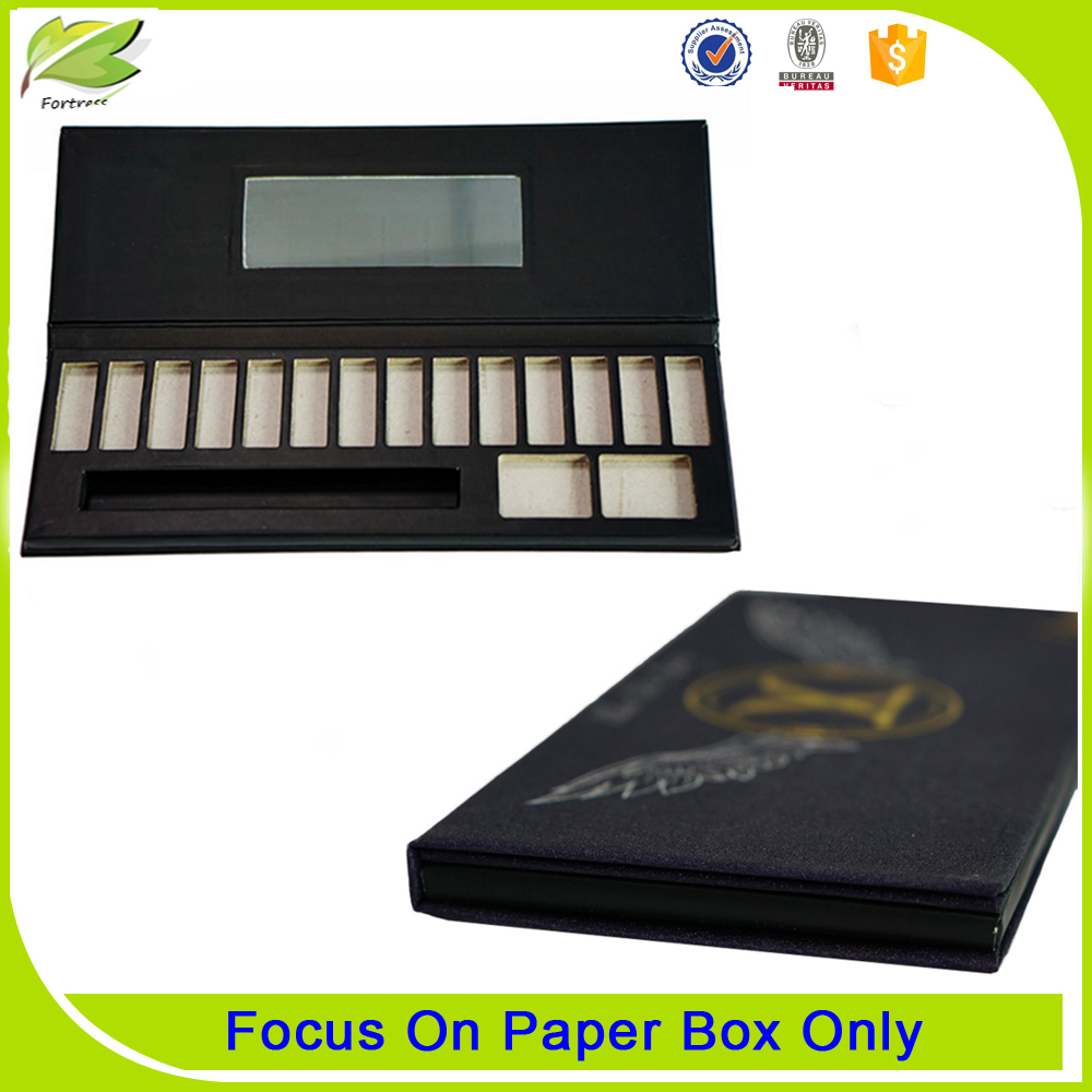 2017 Custom cardboard luxury best eyeshadow palette box