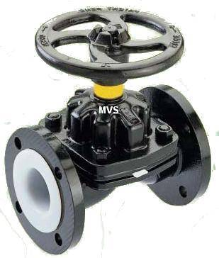 PTFE Lined Diaphragm Valve (Weir type ) PFA Lined