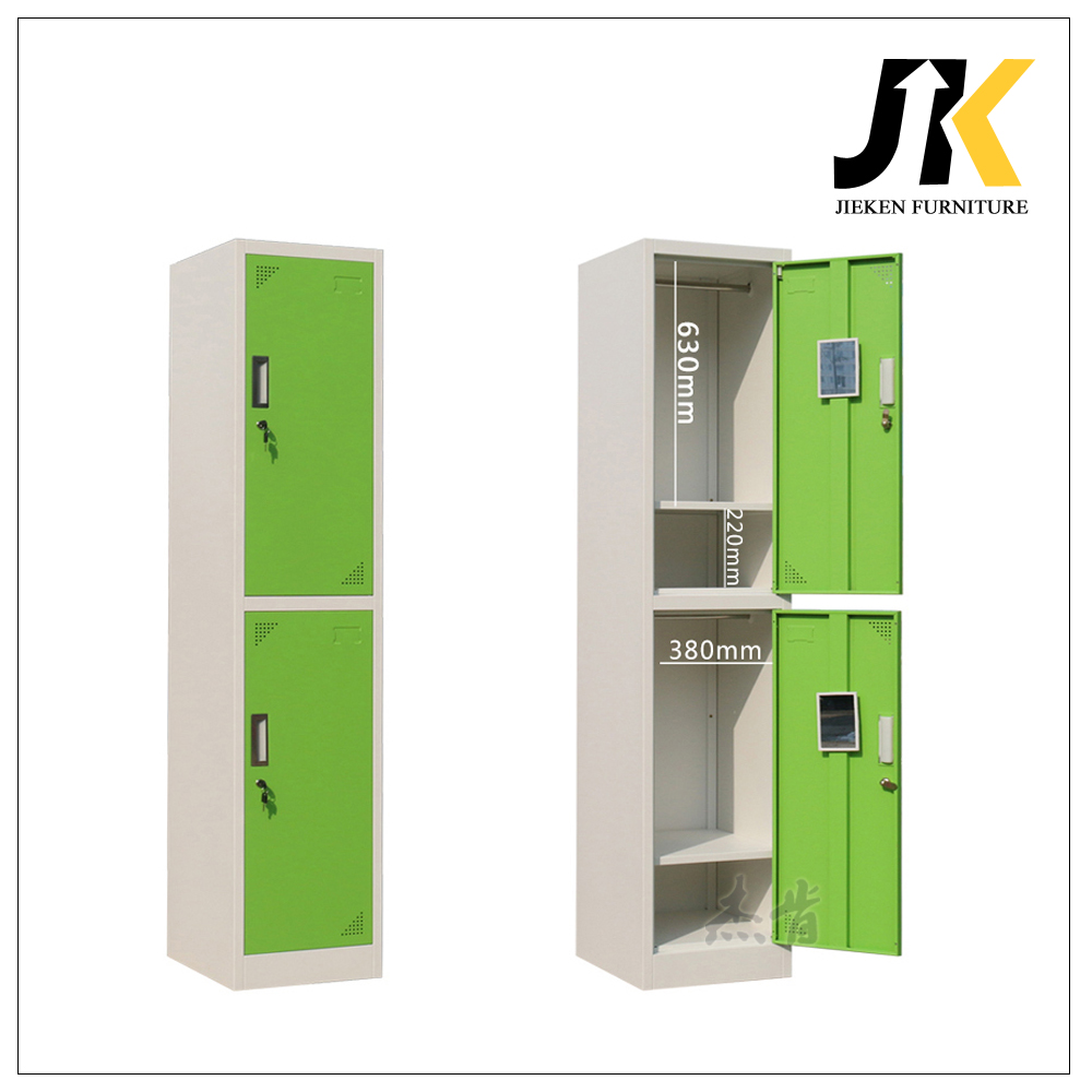 Double tier metal employee lockers