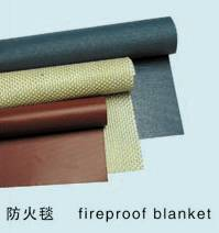 silicone coated fiberglass fire blanket