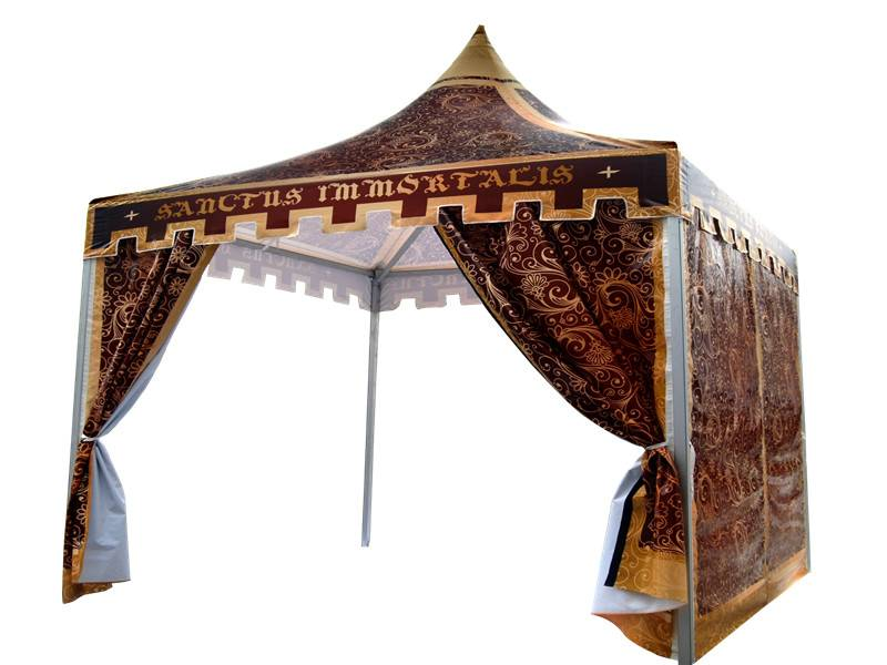 Pagoda Booth medieval tent for advertising