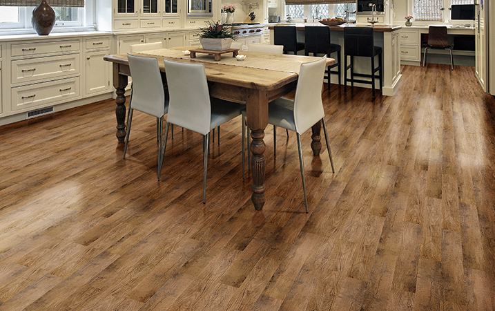 Durable vinyl flooring for indoor usage