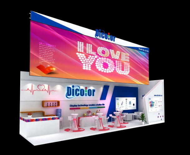 Colorful Trade show stand producer designer by Crechan Exhibition