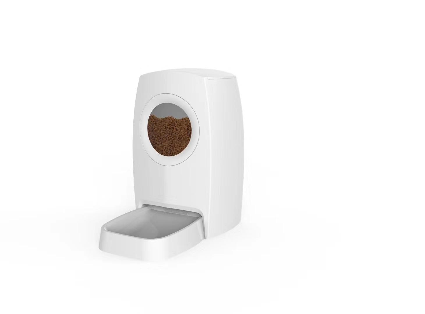 2020 Cozamo Timing Feeding with Visual Transparent Window Pet Feeder