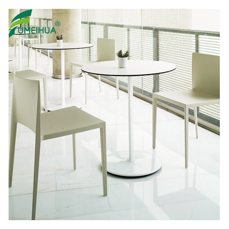 Restaurant wood grain round compact hpl laminate table top
