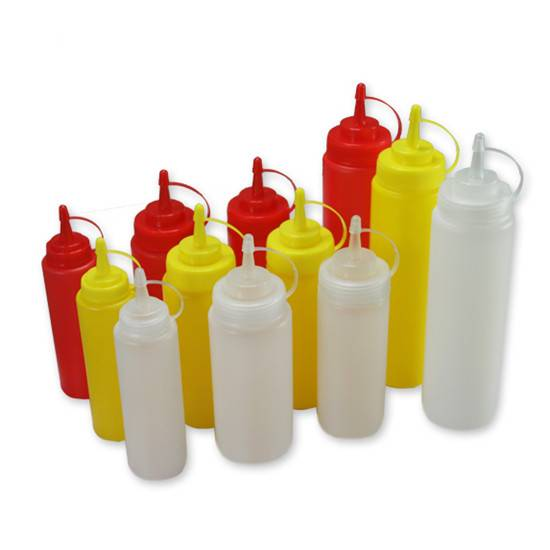 Plastic LDPE squeeze tomato soft bottle chili sauce bottle