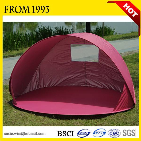 OEM 2-4Persons Waterproof Outdoor Cheap Pop Up Folding Beach Tent For Beach