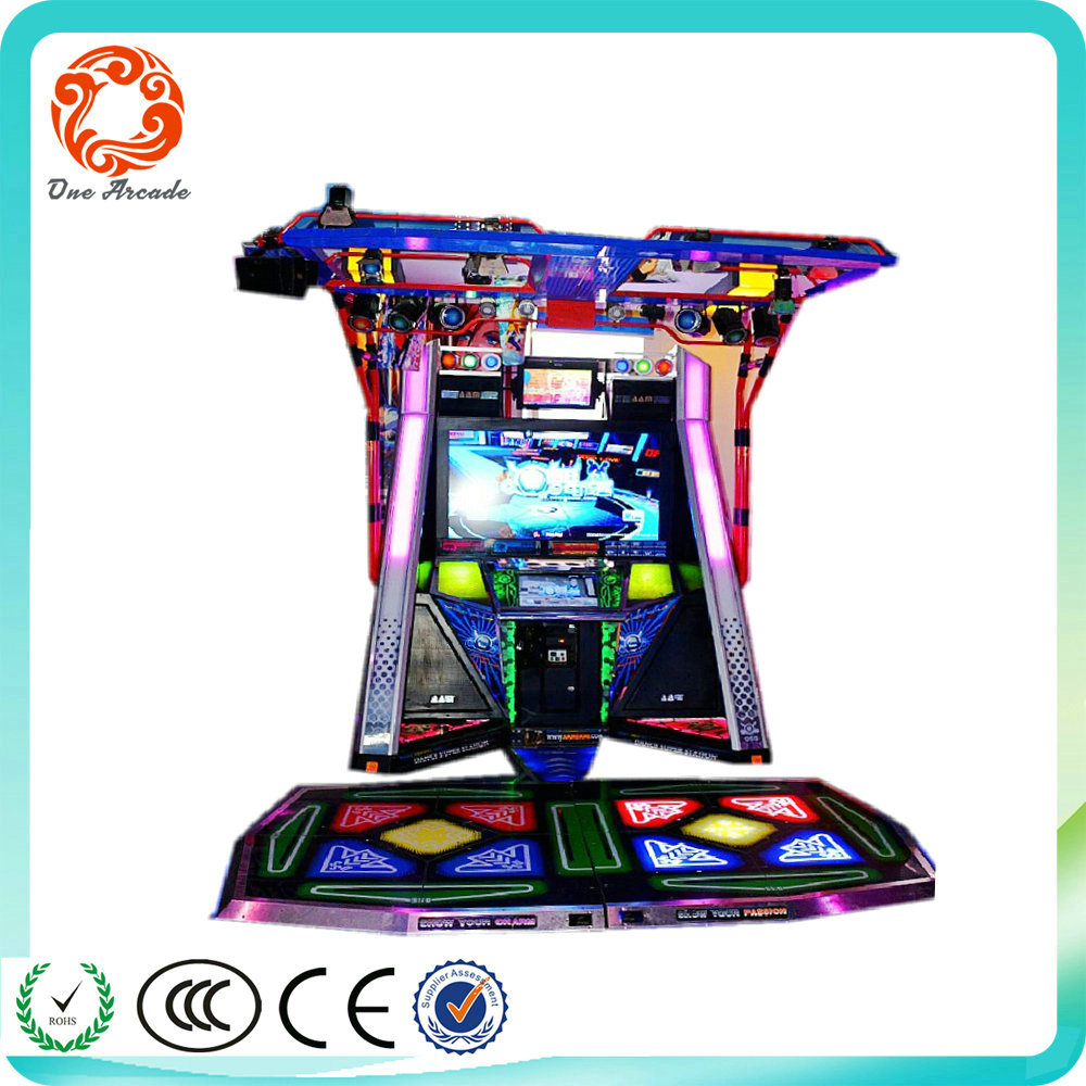 funny arcade coin operated simulator dancing music video game machine for sale