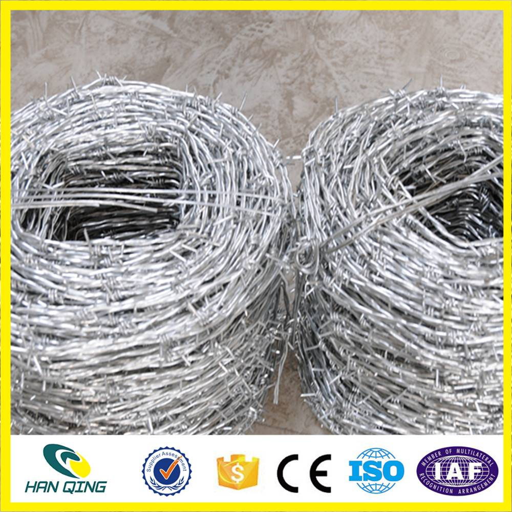 10 gaugeX12 gauge barbed wire mesh fence