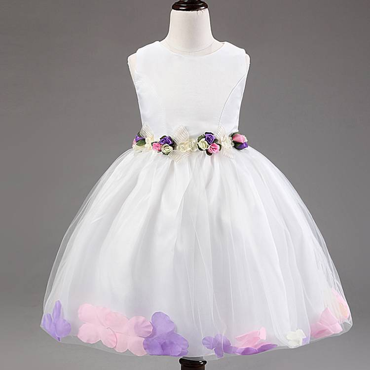 Beautiful Handmade Jewel Flower Girl Dresses for Weddings With Exquisite Sash Little Girl Pageant Dr