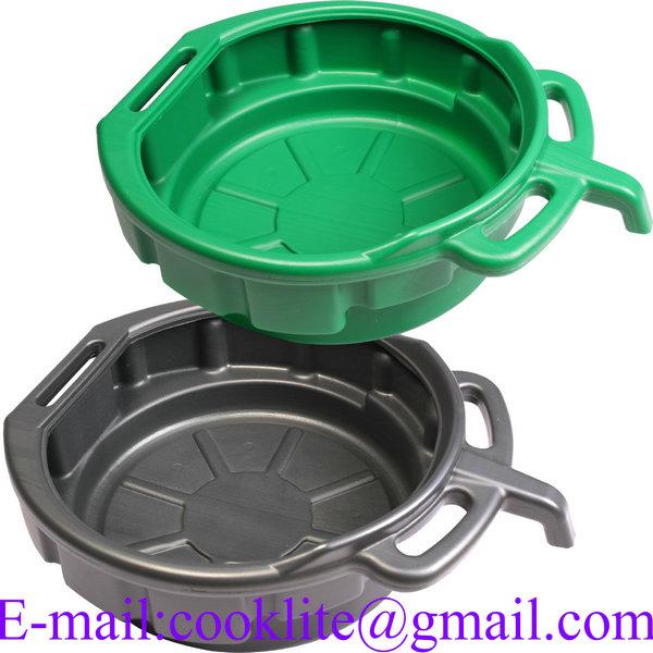 15 Litre PE Plastic Oil Recycler Drain Pan Fluid Water Drip Tray