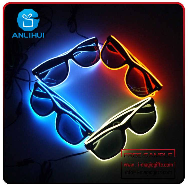 El Wire Led Sunglasses With Color Battery Case