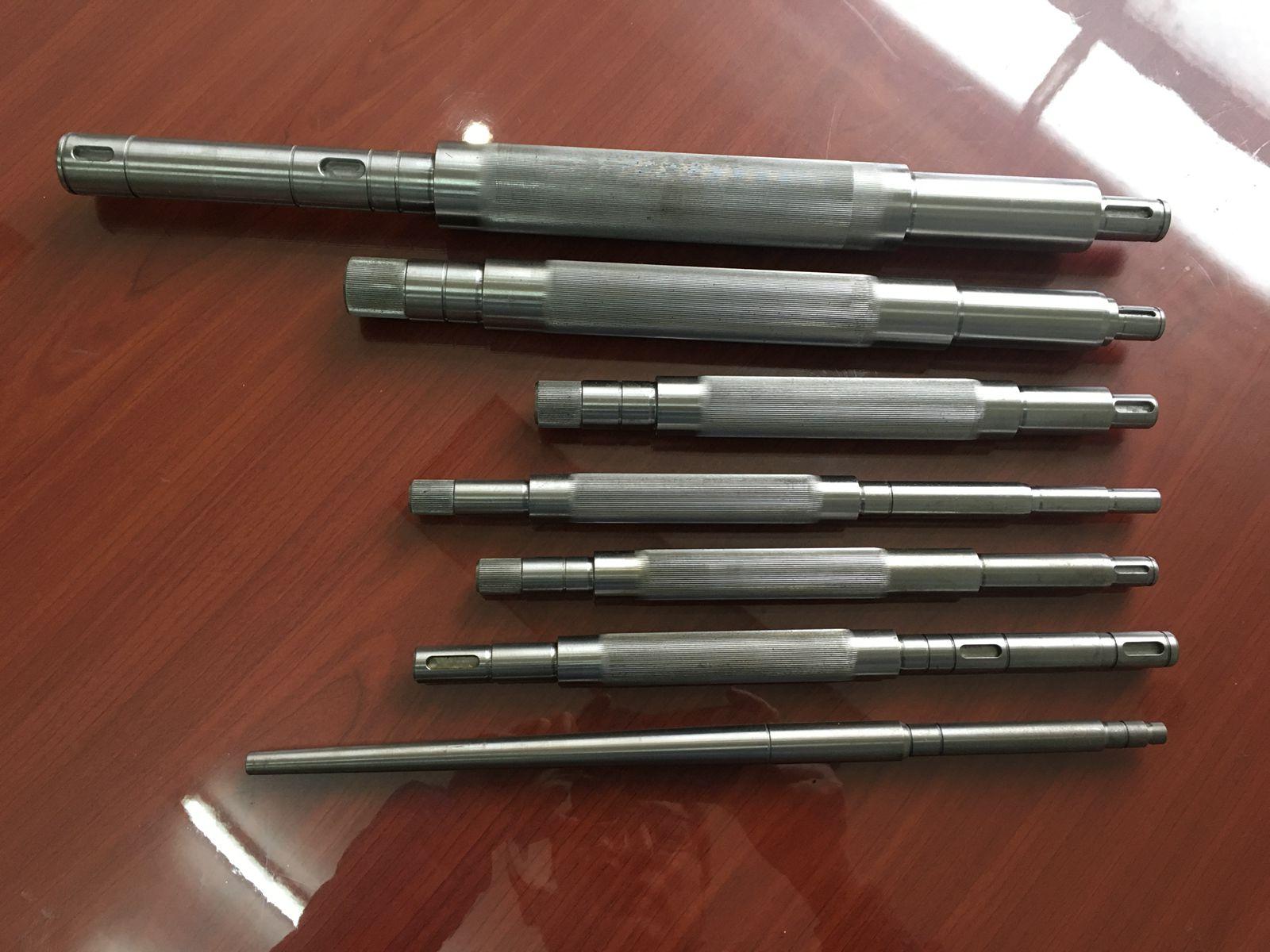 Steel knurled drive motor shaft