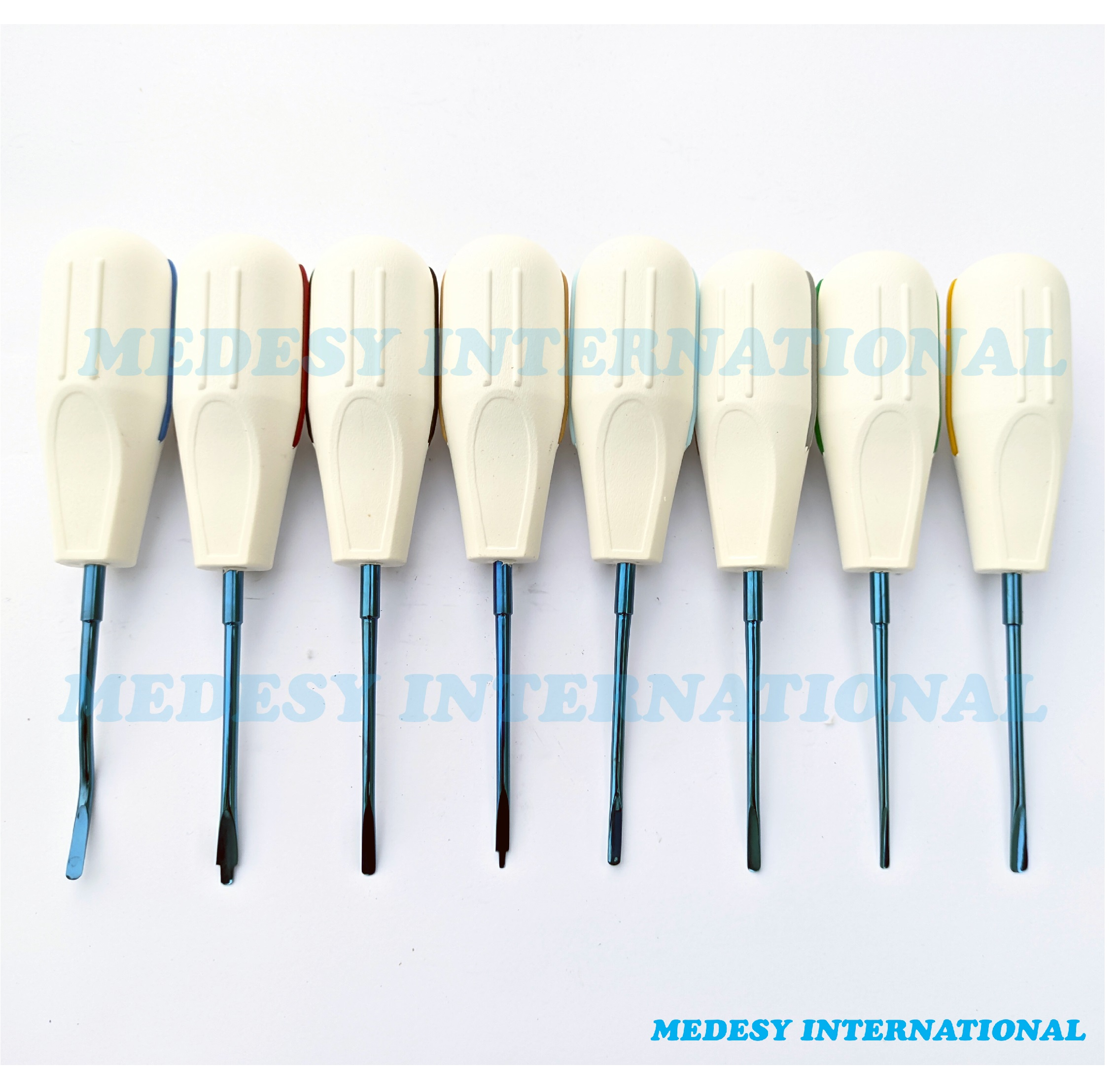 Dental Tooth Luxation Root Extraction Surgical Dentist Elevators 8 PCS