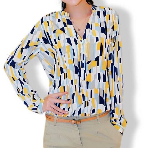 Chiffon Fabric Ladies Fashion Skirts With Geometric Patterns