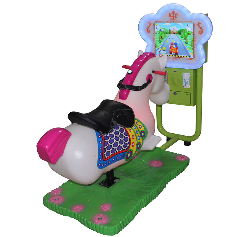 Kids Coin Operated Game Machine 3D Video Swing Machine Ride on Horse Kids Car Racing Games