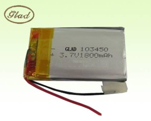 103450 3.7V Li-ion Polymer Battery 1800mAh