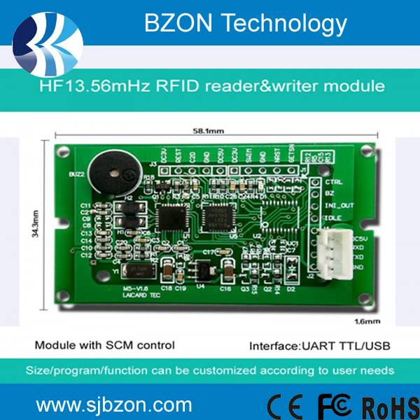 13.56Mhz RFID reader and writer module
