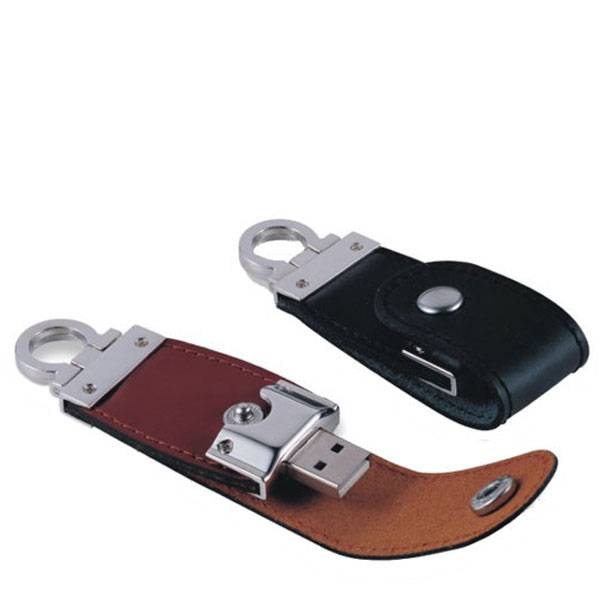 USB Flash Drive with USB 2.0 Leather Flash Memory Drives