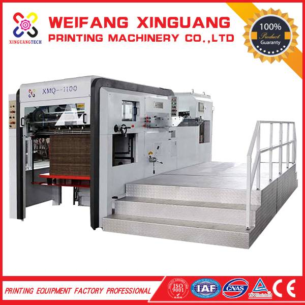 XMQ-1100 High quality/accuracy Automatic die cutting machine for best sale models