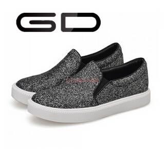GD long rubber comfortable black polish upper flat shoe