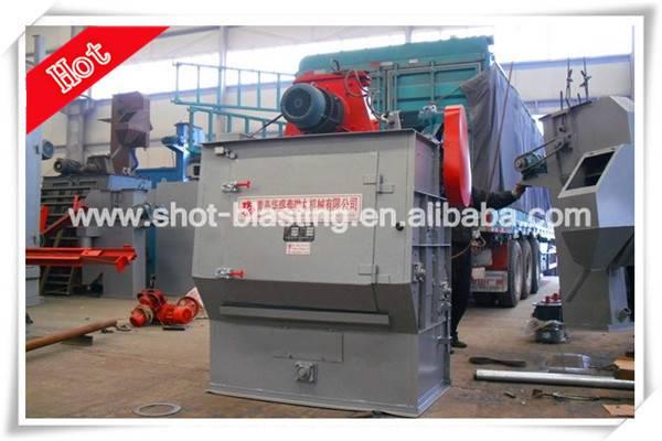 Wearable rubber belt type shot blasting machine