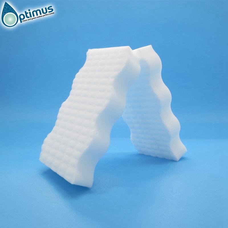 High density melamine sponge magic sponge nano sponge with dots on surface