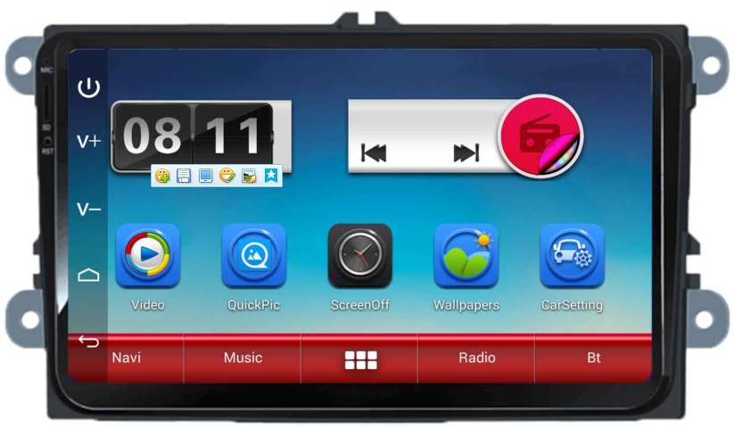 "9"" VW Android Capacitive Screen Universal Car Navigation"