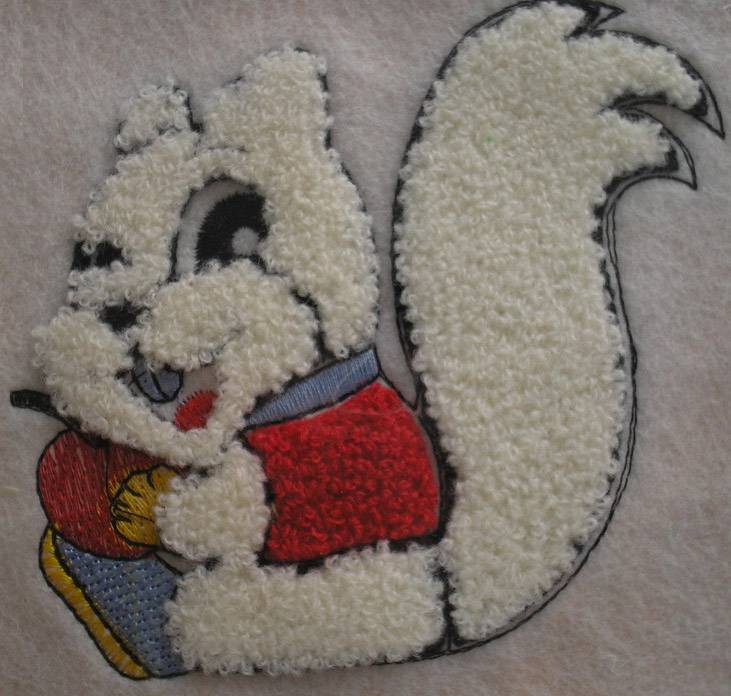 Towel embroidery digitizing