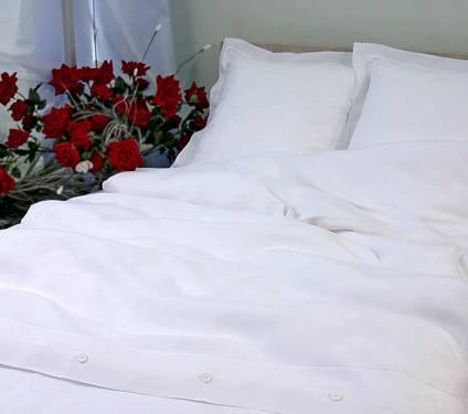 Pure white linen bedding set dovet cover set