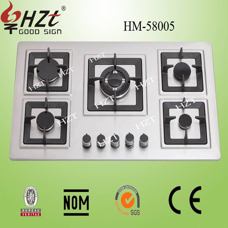 2015 Hot sale CB,CE,UL Certification corner gas hob