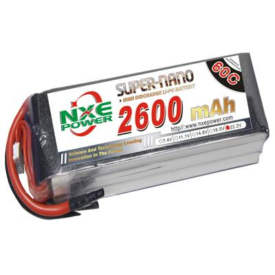 NXE2600mAh-60C-22.2V Softcase RC Helicopter Battery