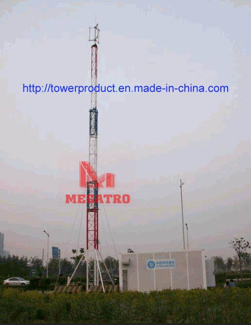lattice Integrated telecom base station tower