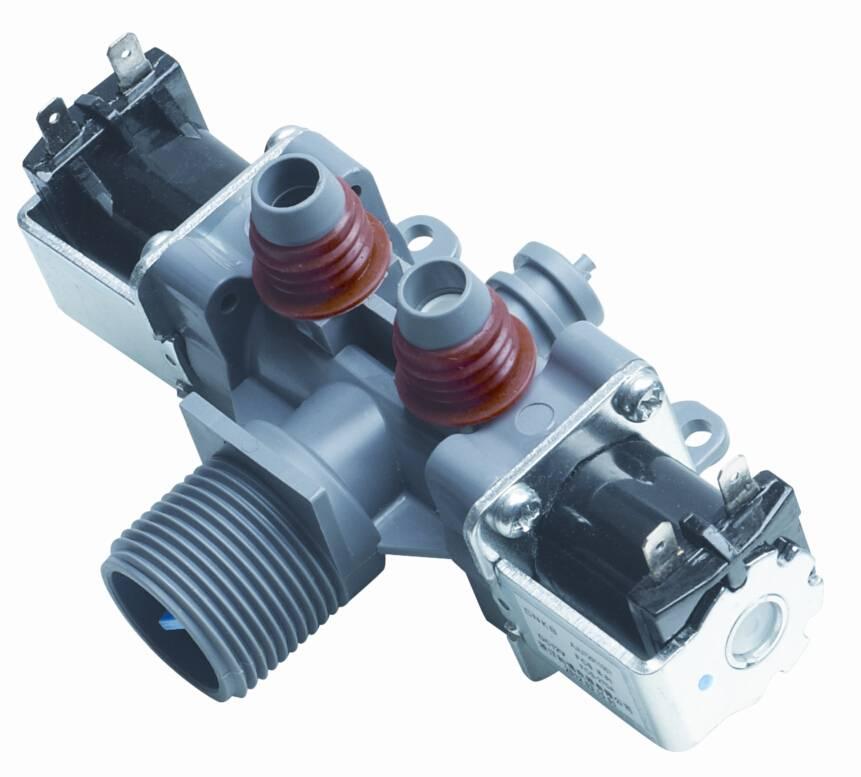 Two way solenoid valve for washing machine